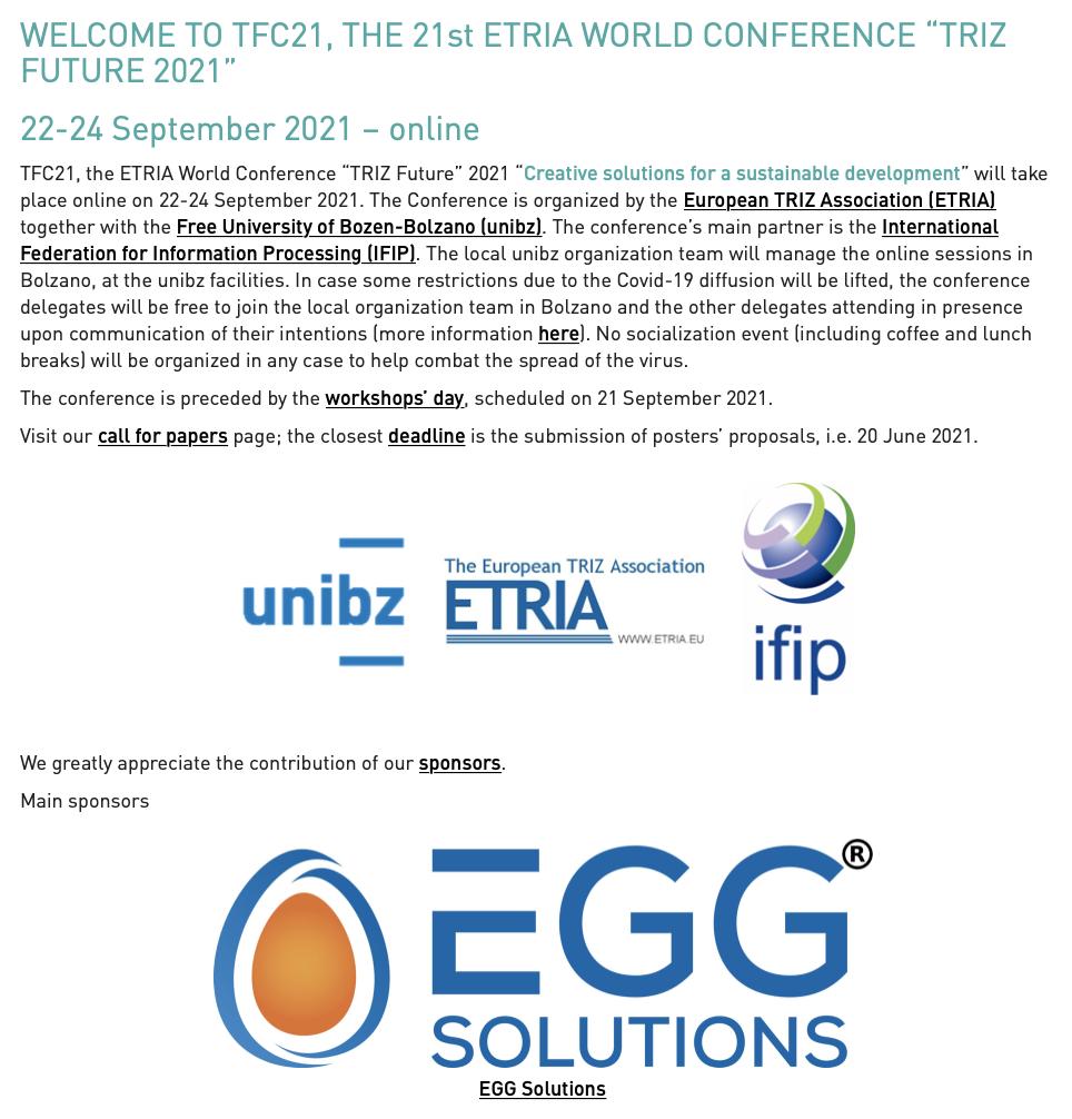 TFC21-EGG Solutions-Main Sponsor